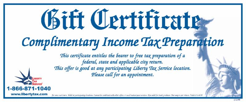 Tax preparation discount coupons