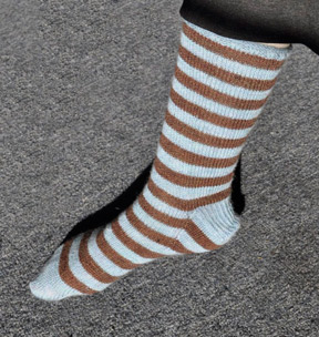 Allegro Lace Striped Socks