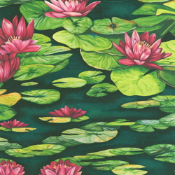 Water Lilies fabric lily pads