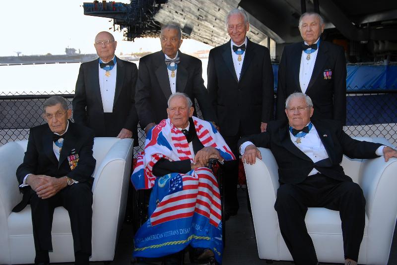 Seven WW II Medal of Honor Recipients