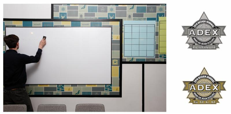 Magnetic Receptive Dry-Erase, Chalkboard, Bamboo Print Media by Visual Magnetics Win ADEX Platinum, Gold Awards