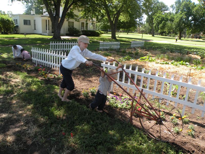 Living History Garden in action