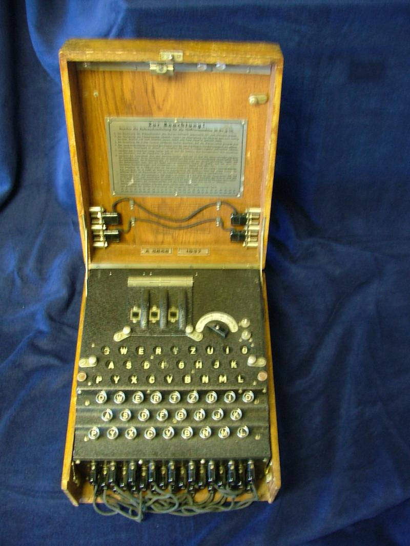 Enigma machine photo/WWII Remembered