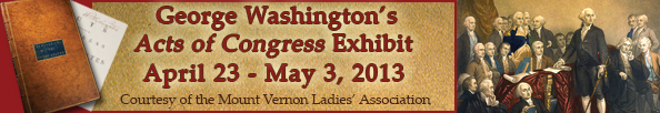 Acts of Congress exhibit banner