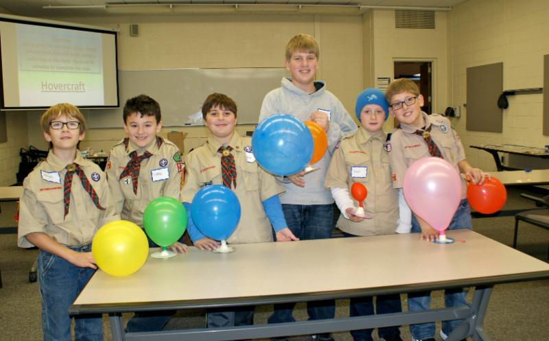 Boy Scouts enjoy CAAT lab