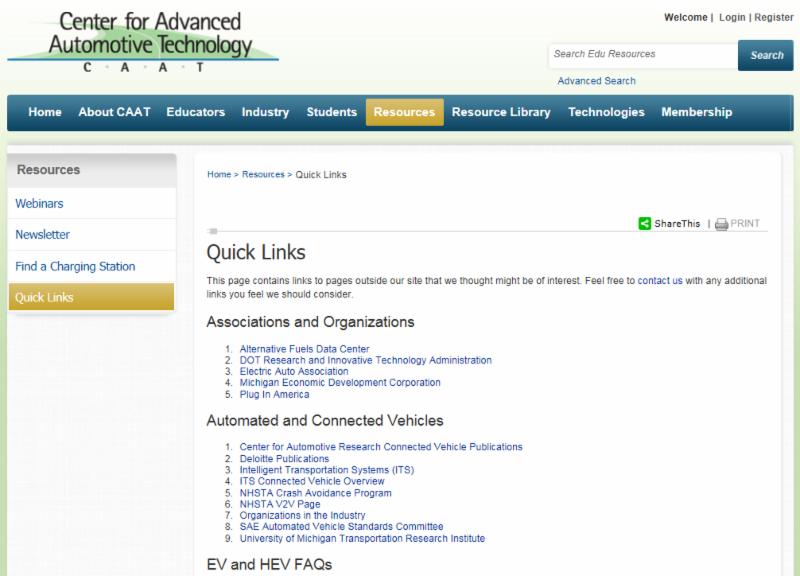 Quicklinks Screenshot