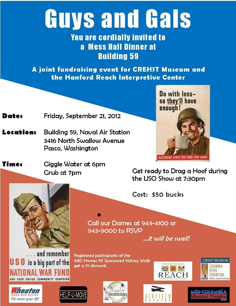 REACH and CREHST Mess Hall Dinner USO Show flyer