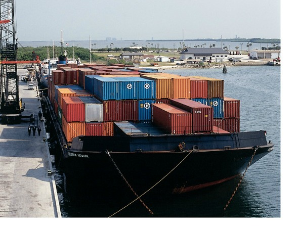 containers on barge 1