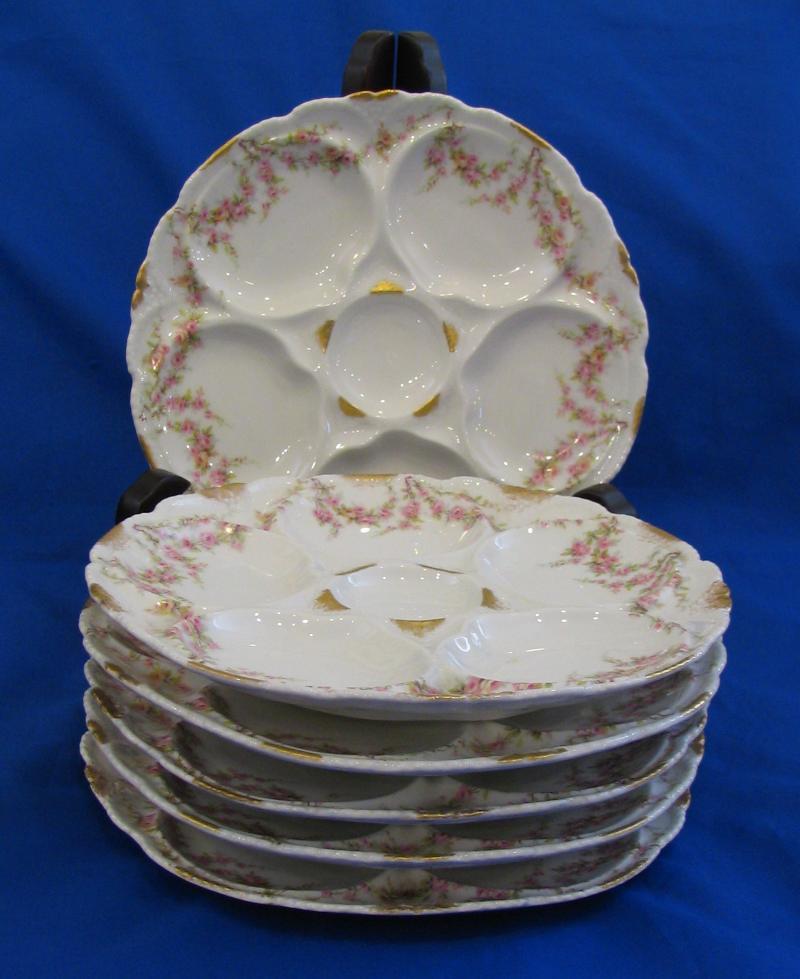 6 Haviland Limoges Oyster Plates