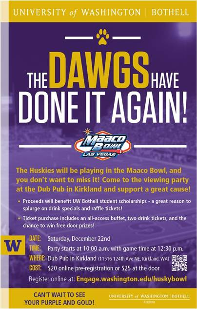 Husky Bowl Game poster