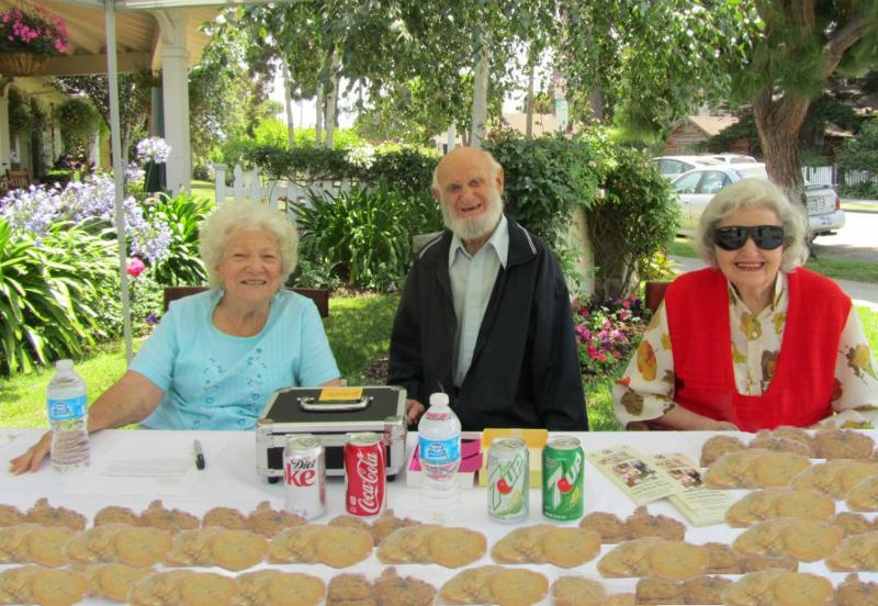 Beautiful Garden Court Residents, From Left: Fran Krauskopf; Earl Adley; Fathuna  Alford.