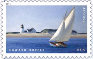 edward hopper stamp