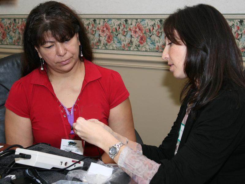 Screeners checking equipment