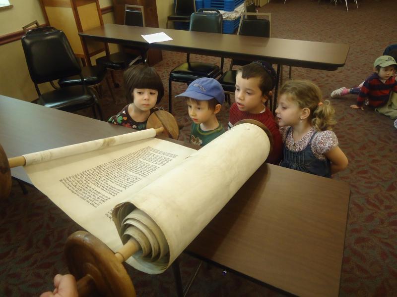 Nursery Students with Torah