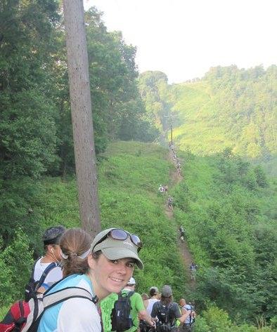 Kirk hiking