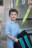 Cooper Arriving for School