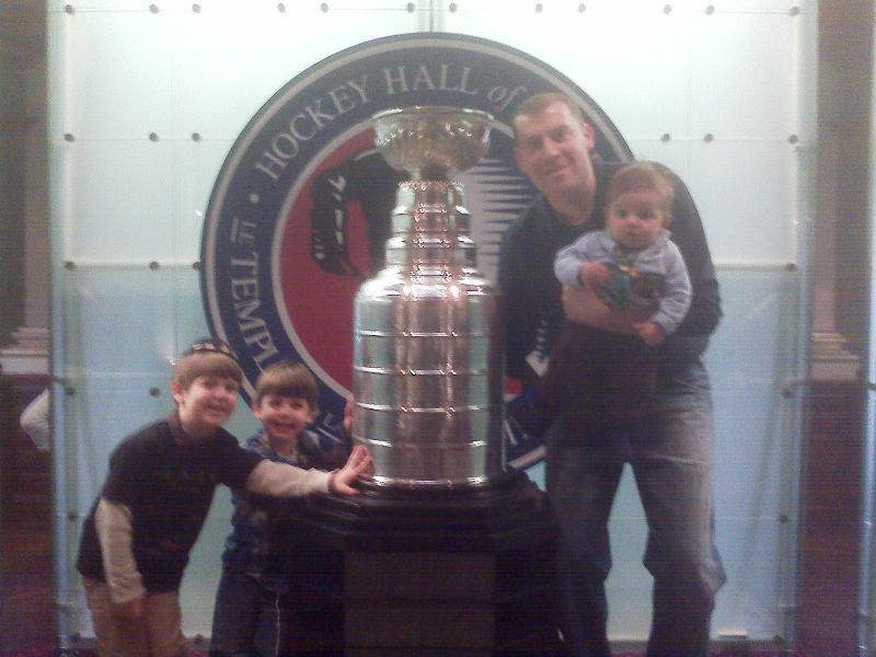 Nate Itskowitz at Hockey Hall of Fame