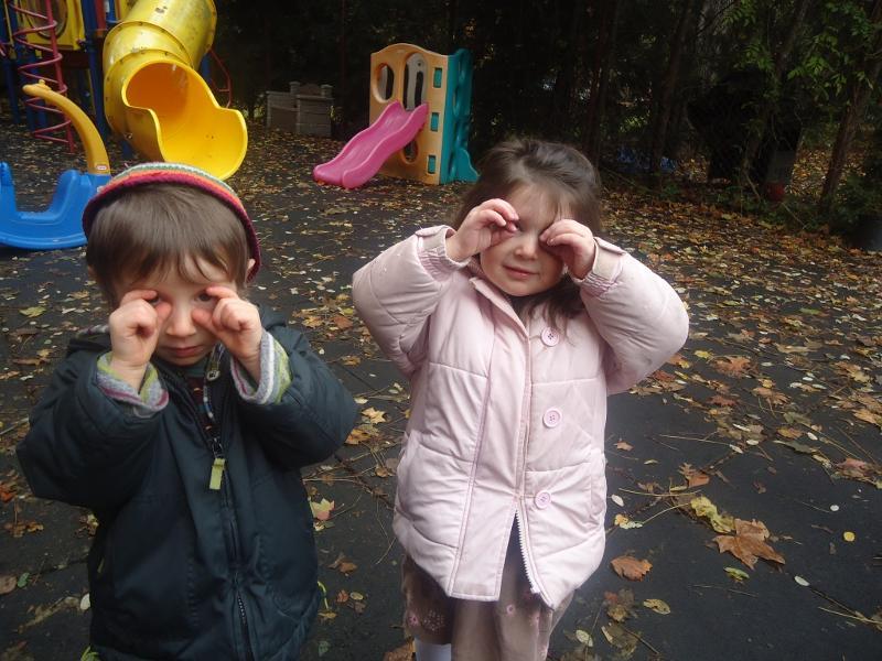 Nursery Students Exploring