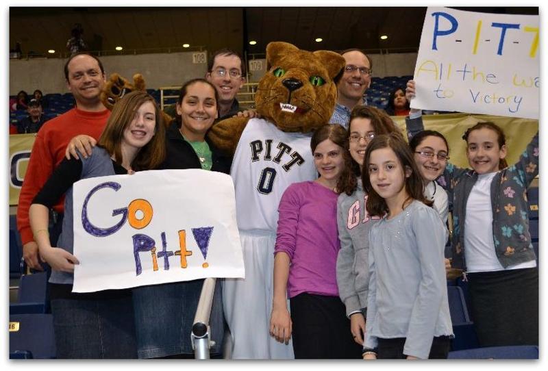 Girls at Pitt Panthers Game