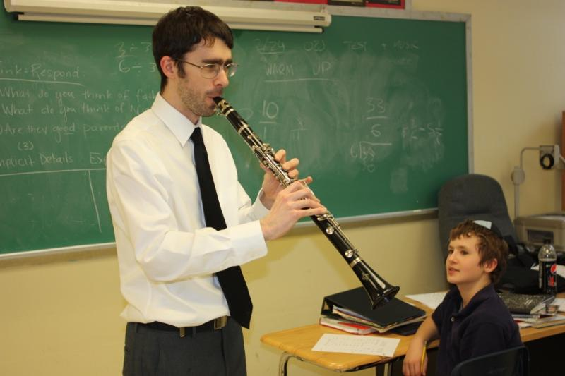 Mr. Kingman with Clarinet