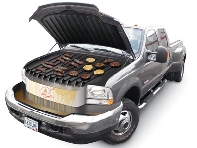 Car with BBQ