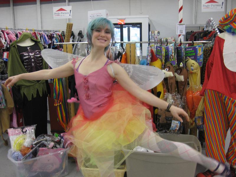 Serina dressed as a fairy for Halloween