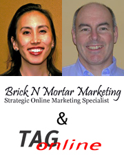 Valerie Paik, TAG Online and Dave Castle, Brick N Mortar Marketing