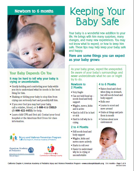 keep kids safe brochure