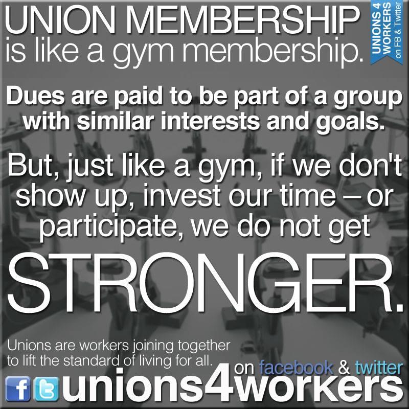 Unions = Gym Membership