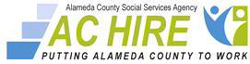 Logo for the Alameda County HIRE program