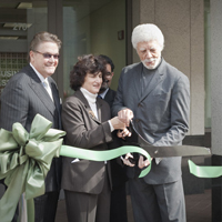 Mayor Dellums and Council President Brunner at BAC Grand Opening in Oakland