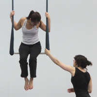 Photo of practice at Kinetic Arts Center in Oakland, Calif.
