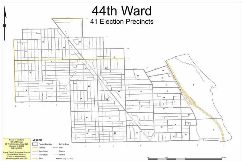 Chicago 44th Ward Map ~ CRIANDIARTES
