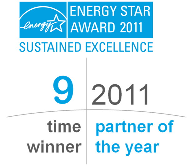 2011 Energy Star Sustained Excellence Award