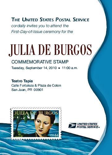 Julia de Burgos Invite