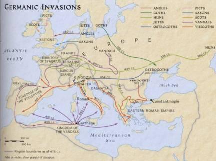 What was the impact of Attila the Hun on the Roman Empire