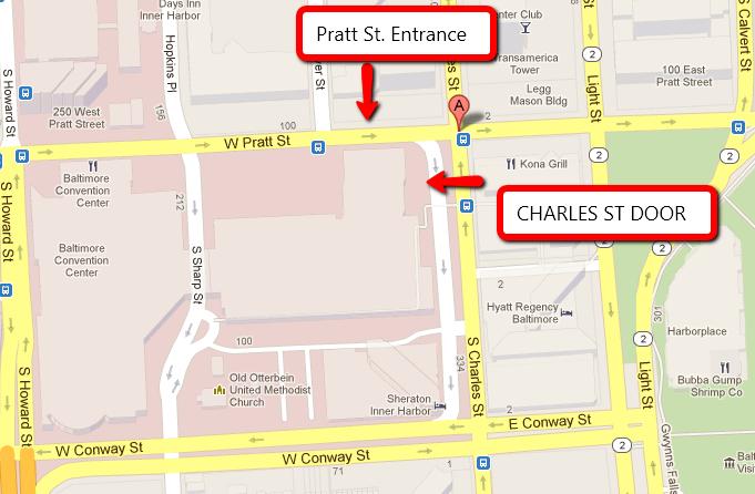 Pratt and Charles Streets