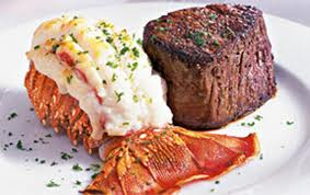 filet mignon and lobster tail
