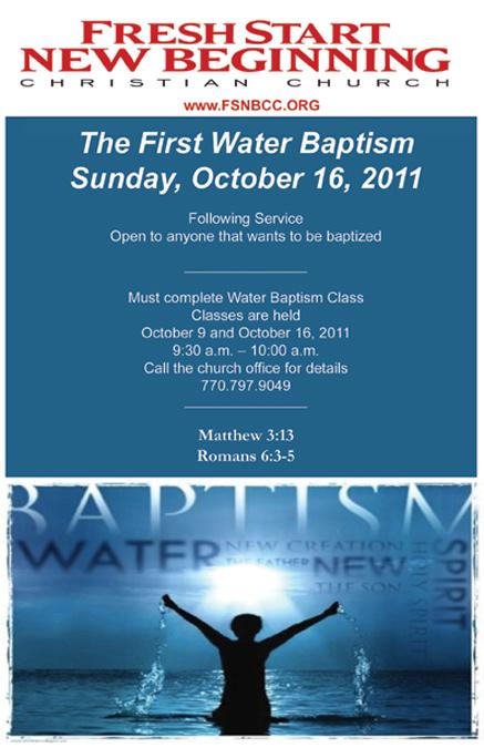 A Message from Fresh Start New Beginning Christian Church