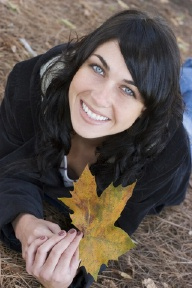 Smiling in fall