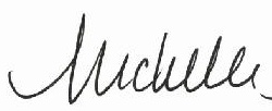 Michelle - first name signature
