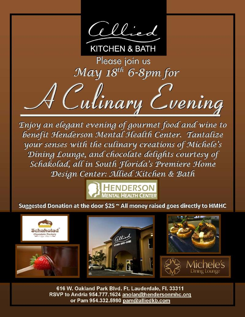 Henderson Mental Health Center Culinary Evening