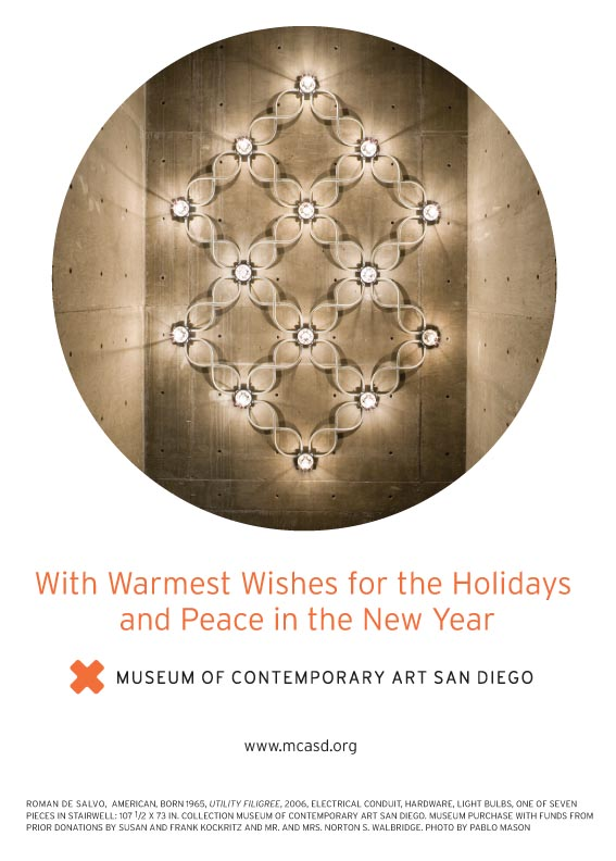MCASD Holiday Card