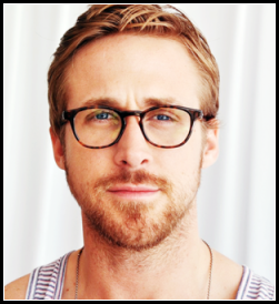 ryan gosling uber handsome actor director and musician is often seen wearing glasses in this photo his frames look just like modern opticals gvx536 - Modern Glasses Frames
