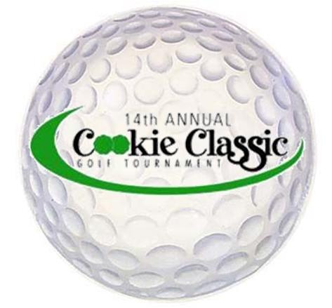 golf ball with cookie classic logo