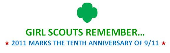9/11 banner graphic for girl scouts remember