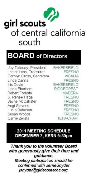 board of directors revised 10032011