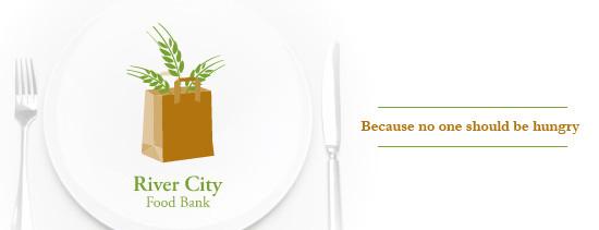 Green Bank City River City Food Bank Logo