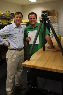Joe Johnson and Matthew Burke mailing first RRS tripod