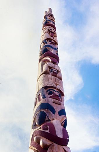 Mother Bear Pole by Robert Davidson